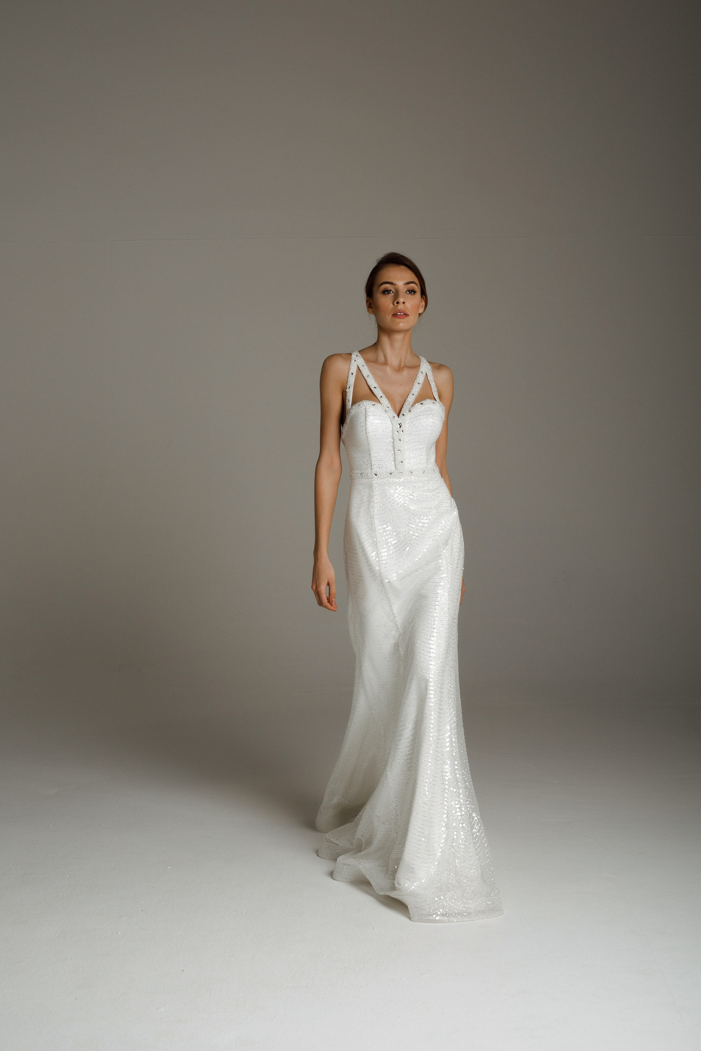 Lucretia gown, 2020, couture, gown, dress, bridal, off-white, lace, embroidery, mermaid, discount, sale