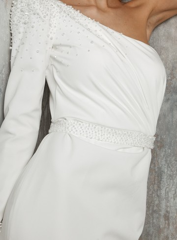 Beaded belt, accessories, belt, bridal, off-white, Paulette, embroidery