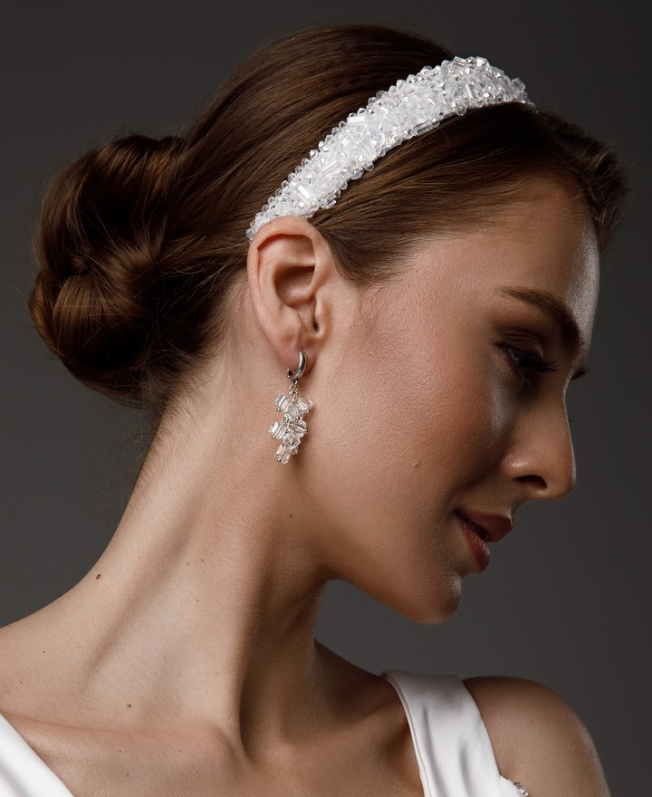 Dagny headband, 2021, accessories, hairstyle, bridal, off-white, Dagny, embroidery, headband